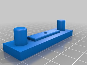 Anet A8 (Prusa i3) X-Axis Belt Tensioner (Extended Pegs)