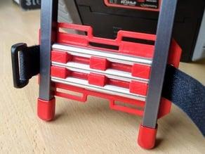 Velcro strap slotted mount plate for taranis aluminium stand
