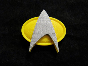 Star Trek Badge magnetic, with backing