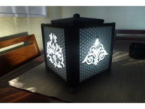 vintage cube lamp