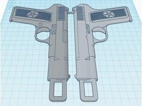 Car Seat Belt Lock Buckle - TT-33 Soviet pistol (Custom size)