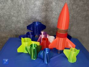 Universal Model Rocket Fin Can