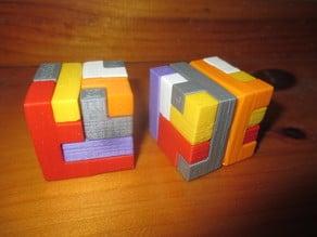 6 Piece Interlocking Cubic Puzzle