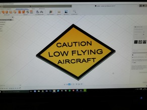Sign - Caution low flying Aircraft