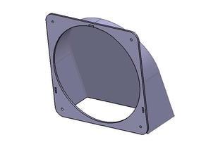 120mm fan housing