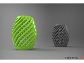 Spiral Hex Vase RF