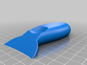 Curved Scraper for Rearview Mirror