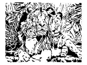 Lion stencil