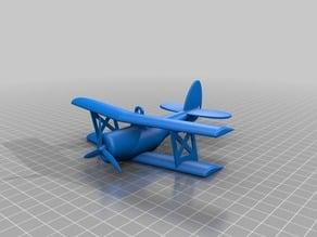 Biplane Ornament