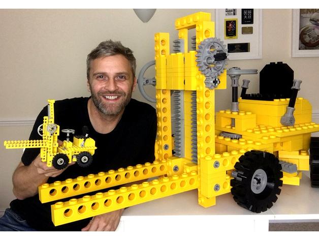 Giant Sized Lego Forklift Kit 850 By Mantisrobot Thingiverse
