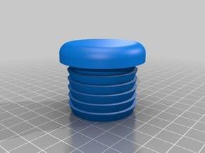 OpenSCAD customizable tube endcap