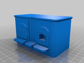Dolls House Victorian Range Cooker 1/12th Scale