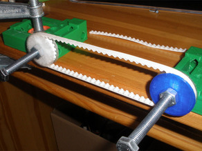 printable T profile belt with soft PLA