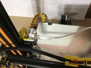 CR-10 Extruder with tube support