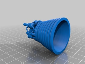J2 Engine with manually added supports to print it whole