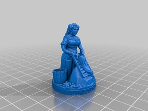 Roman Peasant Woman 28mm Miniature