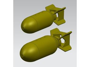250 and 500 lb WW2 general purpose bombs