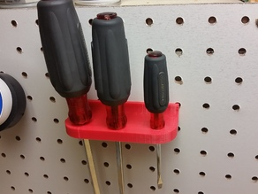 Pegboard Screwdriver Rack
