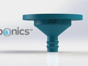 Drip nozzle 3/8 inch, 3 holes - 3Dponics Drip Hydroponics