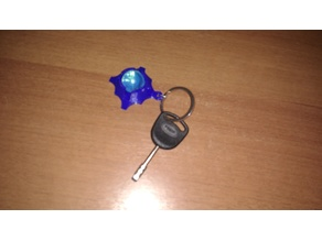Glass ball keychain or pendant