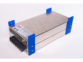 Mean Well PSU Mount for 2020 Aluminum Extrusion