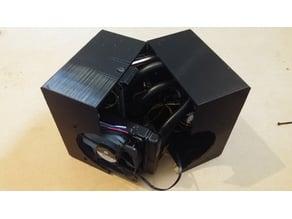 Screwless & silent mini ITX computer case Remix