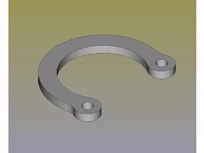C clip/ring, parametric, FreeCAD
