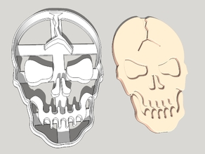 Cracked Skull Cookie Cutter