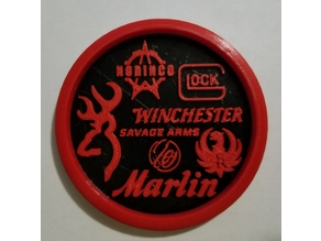 Firearm Logo Coaster