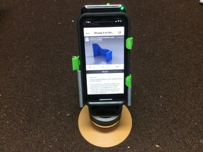 iPhone X in Otterbox Defender cradle/stand for car/desk