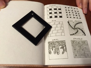 Zentangle Border Stencil