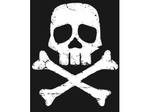 Captain Harlock space pirate skull