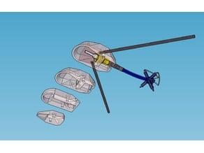 Vortex 250 pro antenna rear mounts