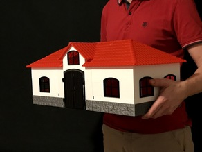 Toy Horse Stable in scale 1:24