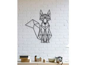 Fox Wall Sculpture 2D
