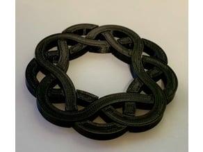 Interlocking Ring Puzzle Coaster