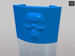Picatinny Rail Covers w/ skulls
