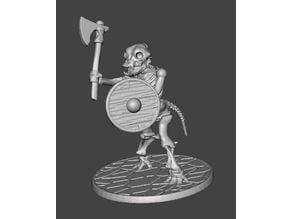 Skeleton Warrior Beastman Dog/Hound - Axe