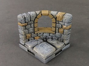 OpenForge 2.0 Dungeon Stone Curved Windows