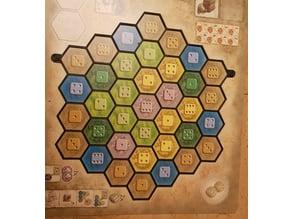 Castles of Burgundy Minimal Player Mat Overlay