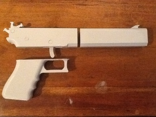 Rubberband Gun all pieces single plate, raft only.  Dowels included.