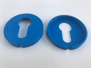 Round lock plate