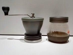 Hario Skerton coffee grinder unit stand