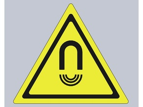 Magnetic field warning sign