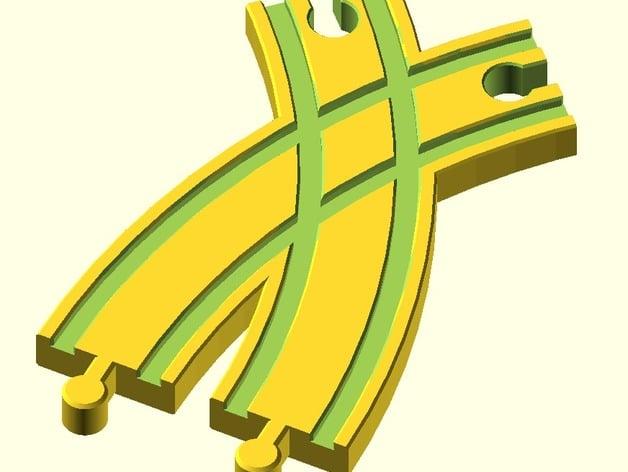 toy wood train track spielzeug holzeisenbahn schienen kreuzung kurve 2 brio thomas ikea. Black Bedroom Furniture Sets. Home Design Ideas