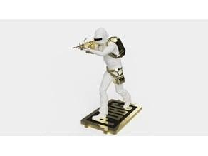 PUBG PLAYERUNKNOWN BATTLEGROUND 3 Level Set M249 Figurine(STANDING)