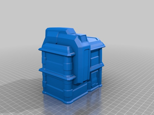 Wargame Terrain Scifi Shop Buildings by Mylakovich - Thingiverse