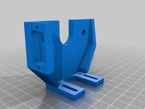 Graber I3 extruder support with servo mount