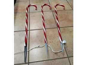 Replacement Yard Stake for Decorative Candy Canes