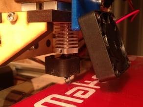 Makerfarm basic fan bracket for pla and hexagon hot end.